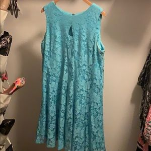 Teal lace Easter dress